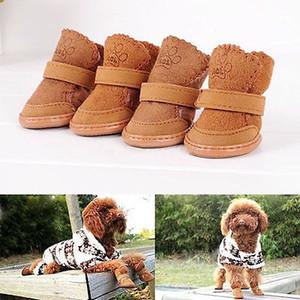 Inverno Anti-Slip Small Dog Botas filhote de cachorro sapatos animal de estimação do cão de proteção Neve Sapatinho