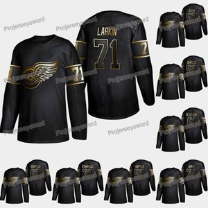 Detroit Red Wings Dylan Larkin 2019 Maglia Golden Edition Andreas Athanasiou Madison Bowey Trevor Daley Jake Chelios Tyler Bertuzzi Maglie