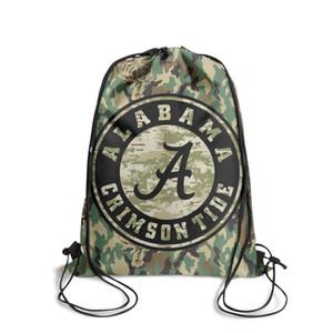 Alabama Crimson Tide football camouflage logoFashion sports belt backpack, design retrò carattere durevole e conveniente pacchetto stringa,