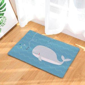Baleia Balão dos desenhos animados Capacho Bath Kitchen Tapete Decorativo Anti-Slip Tapetes de Tapete Bar Sala de estar Porta Do Carro Decoração Da Sua Casa