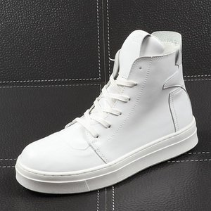 New Men Fashion Casual Ankle Boots Spring Autumn Breathable Side Zipper Sneakers Male Thick Bottom High Top Shoes