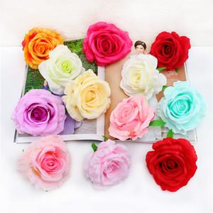50 pcs Flores De Seda Artificial Silk Rose Heads Bulk Flores 11 .5 cm Para A Flor Da Parede Beijando Bolas Fontes Do Casamento