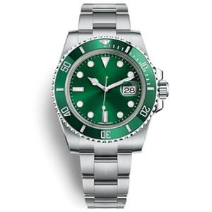 1 Orologio di Lusso 글라이드 잠금 걸쇠 스트랩 Mens 새로운 자동 시계 녹색 시계 116610LV Reloj Hombre Automatico 손목 시계 Orologi da Uom