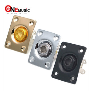 10pcs Square Style Jack Plate Guitar Bass Jack 1 4 Output Input Jack for LP SG Tele Electric Guitar