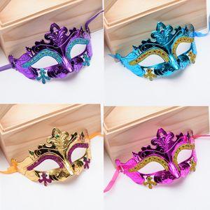 Seksi Erkekler Kadınlar Kostüm Balo Maske Venedikli Mardi Gras Parti Dans Masquerade Ball Cadılar Bayramı Fantezi Elbise Kostüm VT1150 Maske