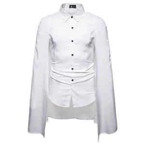Uomini Formato Shirt Designer Simple Business manica lunga stand colletto della camicia 2020 di autunno della molla degli uomini vestiti