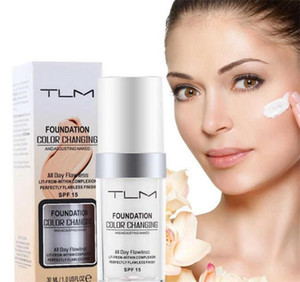 Moonbiffy 30ML TLM Flawless Color Changing Liquid Foundation Makeup تغيير لبشرتك من Just Blending