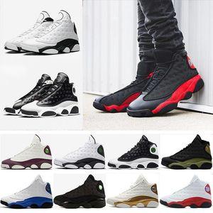 Yeni 13 Basketbol Ayakkabıları hava Erkekler Women13s Buğday Kurt Gri tüm yıldız Siyah Kedi bred Kahverengi Kap Ve Kıyafeti flints Hiper beyaz j13 retro Sneakers