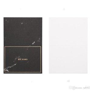 Criativo Cartão de mármore saudação Gilding Manuscrito pequenos cartões Festival de Uso Geral Duplo Fold Papel especial Melhor wishs 0 26lbC1Weddin
