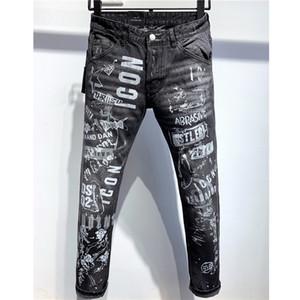 Дизайнерские джинсы мужские летние брендовые джинсы повседневные джинсовые брюки Мужские проблемные рваные джинсы мотоцикл уличный стиль роскошный джинсовый Жан 2020740K