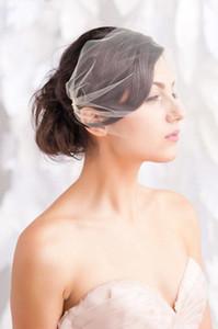Tarak Aksesuarları Gelin Saç Parti Aksesuarları Blusher Basit Gelinlik kuş kafesi Gelin Yüz Veils Düğün Veil