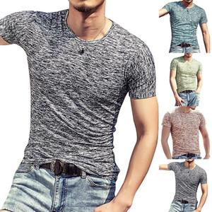 Verão 2019 Homens Camisetas Esportes de Verão Running Top Tees Roupas Masculinas de Manga Curta Casual O Pescoço de algodão Camiseta de Fitness Sportwear