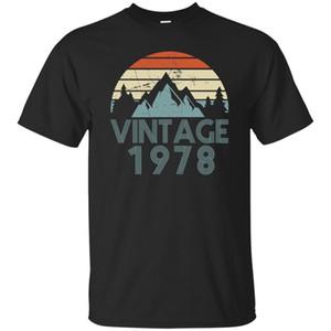 1978 T-shirt Vintage 40th Birthday Day Gift Nero, Blu scuro T Shirt Uomo Cool Casual Pride T Shirt Uomo Unisex New Fashion Tshirt