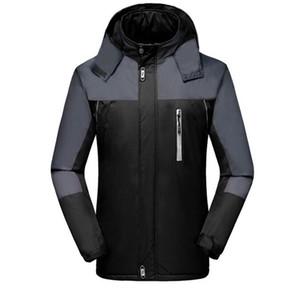 Brasão Plus Size marca New camisola com capuz Moda Men Jacket Outono Inverno espessamento Sports Outdoor Windrunner Zipper Windcheater Preto