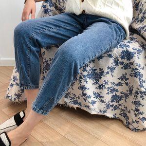 Neimai Old Pants High Waist Jeans Korean Style Women Mujer 2019 Calca Straight Spodnie Damskie Jean Femme Vaqueros Ladies Jeansy