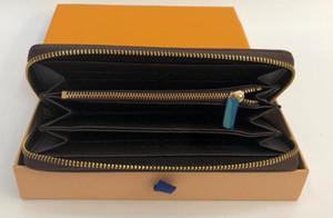 2020 Горячие ZIPPY КОШЕЛЬКА ВЕРТИКАЛЬ самый стильный способ носить с держателем карточки деньги и монеты мужчины PU кожаный кошелек карты нет Box