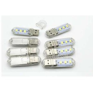 10pcs / lot Wholesale geführte hohe Helligkeit USB-Licht bewegliche LED-Buch-Licht SMD5630 Mini U-Nachtlicht luminaria de mesa Buch Lampe