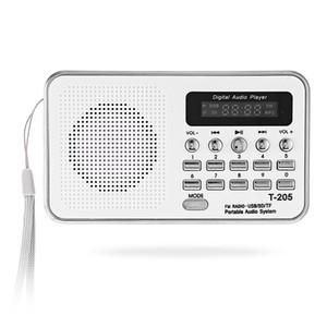 Tragbarer Mini-FM-Radio-Lautsprecher-HiFi-Karten-Digital-Stereo-Multimedia-MP3-Musik-Player-Lautsprecher Camping Hiki Sport T-205 Freies Verschiffen BA