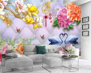 Обои для кухни Дом и цветы Лебединого озера Премиум Атмосферного интерьер обои