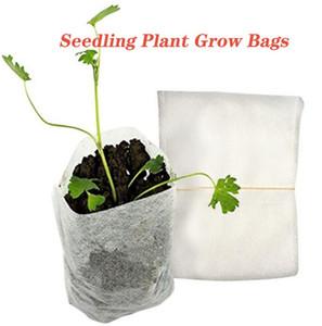 Bitki Biyobozunur Olmayan Dokuma Kreş Çanta Fide Yetiştirme Torbaları Elyaf Toprak Nakli Torbalar Ev Bahçe Kaynağı büyütün Grow Çantalar Fide
