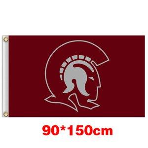 Universidade Trojans Arkansas Little Rock Bandeira Grande Colégio 150CM * 90CM 3X5FT Polyester Flag personalizado Qualquer Bandeira Bandeira Sports