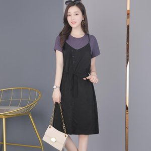 2020 Women Knitted Lapel Dress Fashionable33 Casual Cotton Material Comfortable Knitted Sweater Breathable Classic Dress Size s-xxl