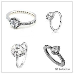 Anelli compatibili con i monili Pandora Radiant Teardrop Anello in argento per le donne Original 100% 925 sterling sterling anello gioielli