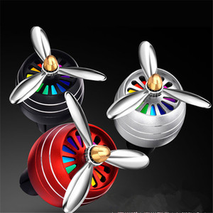 2PCS Car Smell Air Freshener Conditioning Alloy Auto Vent Outlet Perfume Clip Fresh Aromatherapy Fragrance Atmosphere Light