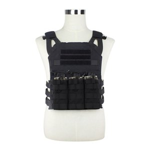 Tactical Vest Army Combat Hunting Plate Carrier MOLLE Protective Vest Airsoft Paintball Body Armor With Triple Magazine Pouch