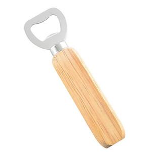 New Madeira Handle abridor de garrafas Handheld Protable Madeira Garrafa Ferramentas Opener Início da cozinha do presente de casamento HHA1146