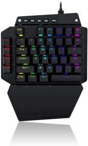 Один Handed RGB подсветки Mechanical Gaming Keyboard 44 Key Gamepad IDA с программируемыми клавишами Macro Recording синих переключателями Съемные Пальмы