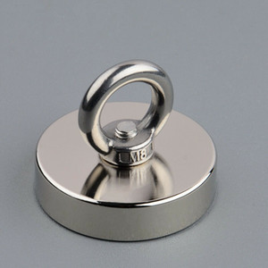350lbs Salvage Magnet D60*15mm Neodymium Metal Treasure Finder Retrieving River Lake Sea Fishing Detecting Magnet