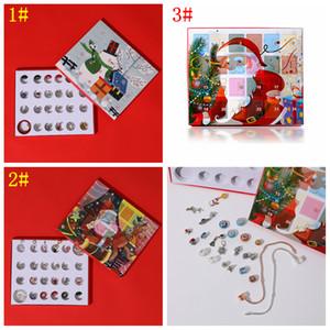 3styles DIY Armband Zubehör-Set Weihnachten Schmuck Kinder Countdown Kalender Gift Box Mode Weihnachten Adventskalender Parteibevorzugungs FFA3244