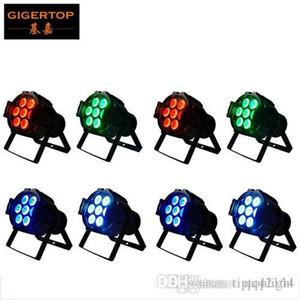 Gigertop 8 LED Unités Par 7x12w RGBW Avec DMX512 pour son club Activé Disco Stage Light
