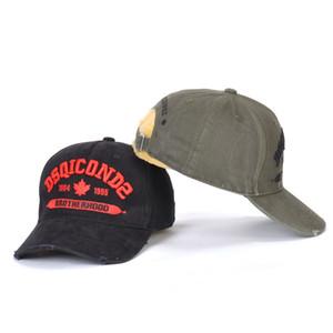 Venda quente dos homens do desenhador de moda chapéus Casquette luxo bordados chapéu DSQICOND2 ajustável por trás letras cap luxo D2
