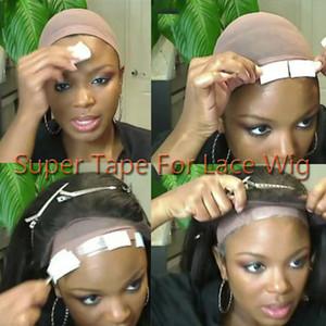 36 Pezzi / Lotto Super Adesivi nastro laterale al pezzo del merletto parrucchino capelli Tenere 2-5 settimane di estensioni dei capelli accessori colla per parrucche