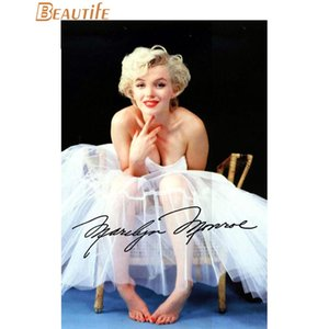 Sıcak Satış Özel Marilyn Monroe Posteri Ev Dekorasyon Moda Ipek Kumaş Duvar Posteri Özel x008