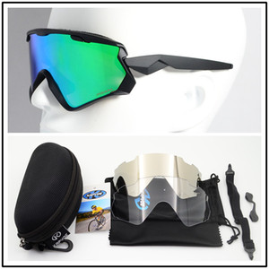 Prizm Widn Jacketer 7072 Cycling Glasses Outdoor Sports Windproof Sunglasses TR90 Three Lenses With Case Cloth 14 Colors