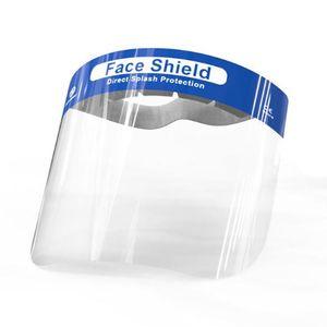 재고 보호 바이저의 위험 스플래시 휴대용 얼굴 쉴드에 대한 안티 안개 얼굴 방패 일회용 플라스틱 얼굴 가리개