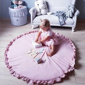 40inch / 100cm Baby-Crawling Mat Creeping Play Game Mat Kleinkind-Baumwolldecke Kinderzimmer Dekoration Fußboden Runde Teppiche