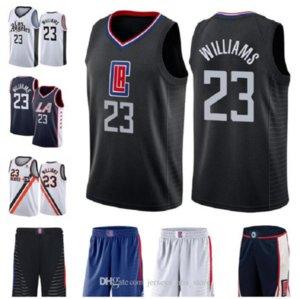 Erkekler basketbol LosAngelestırnak makası23LouWilliams beyaz mavi Latince şehir swingman kolsuz Jersey 02