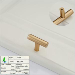 6808 Yellow Factory direct simple European cabinet custom strip handle simple modern drawer wardrobe door handle furniture hardware