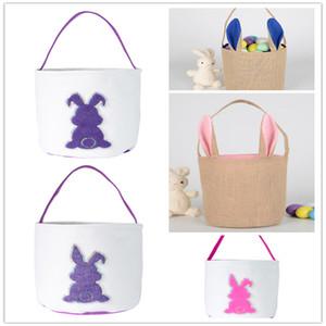 Carino Paillettes Easter Basket coniglio 3D coda Stampato moda di Lucky Egg Basket coniglio Stampato Candy Bag giocattolo del sacchetto di immagazzinaggio Souvenir WY443-4Q