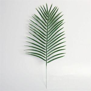 15pcs artificielle en plastique Feuilles Plantes vertes Faux Palmier Feuille Verdure pour Floral Florale Mariage Décoration