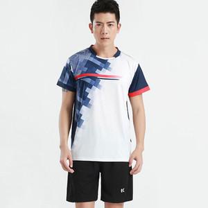shirt Summer Novo Estilo Manga Curta Ténis de mesa Badminton shirt Sportswear das mulheres dos homens tenis mujer Ping pong roupas