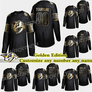 Nashville Predators Golden Edition 95 Matt Duchene 59 Roman Josi 64 Mikael Granlund 9