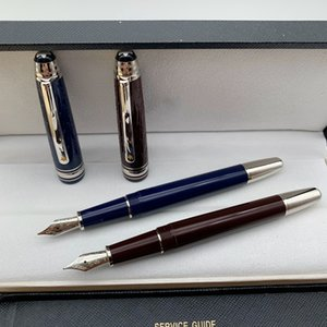 Nueva lujo Meisterstcek 145 Café oscuro y azul Principito graban la Pluma de Rollerball Bolígrafo plumas de escritura con número de serie MB
