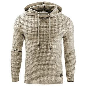 2017 New Casual Hoodie Men'S Hot Sale Plaid Jacquard Hoodies Fashion Military Hoody Style Long-Sleeved Men Sweatshirt 4XL T200531