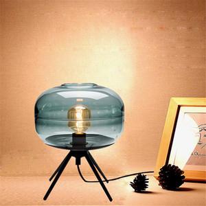 Moderna de cristal lámpara de mesa de noche luz del escritorio Home Living Room Cafe florero claro decoración de DIY accesorio TA081