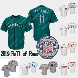 #11 Edgar Martinez Jersey 2019 Hall of Fame Patch Roy Halladay Mike Mussina Lee Smith Harold Baines Harold Baines Mariano Rivera Jerseys